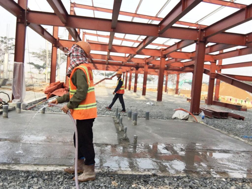 Lắp dựng khung kèo nhà xưởng dự án BW IIA Tân Uyên - Bình Dương